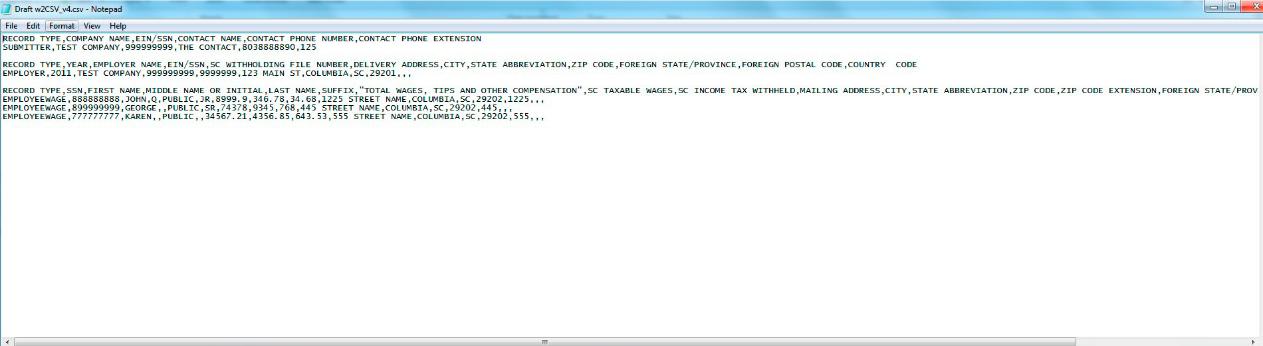 W2 Upload - CSV Instructions